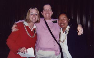 Me with Sister Servito in the blue and another favorite Sister Meyer in the red