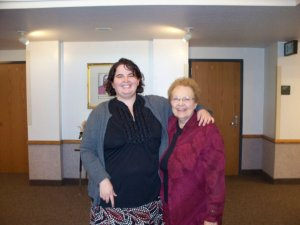 Sister Leonard and I.  She helped me and so many sisters feel loved and at home on the mission.