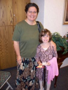 The woman we helped and her daughter.