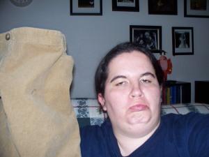 My sad face at losing my skirt!