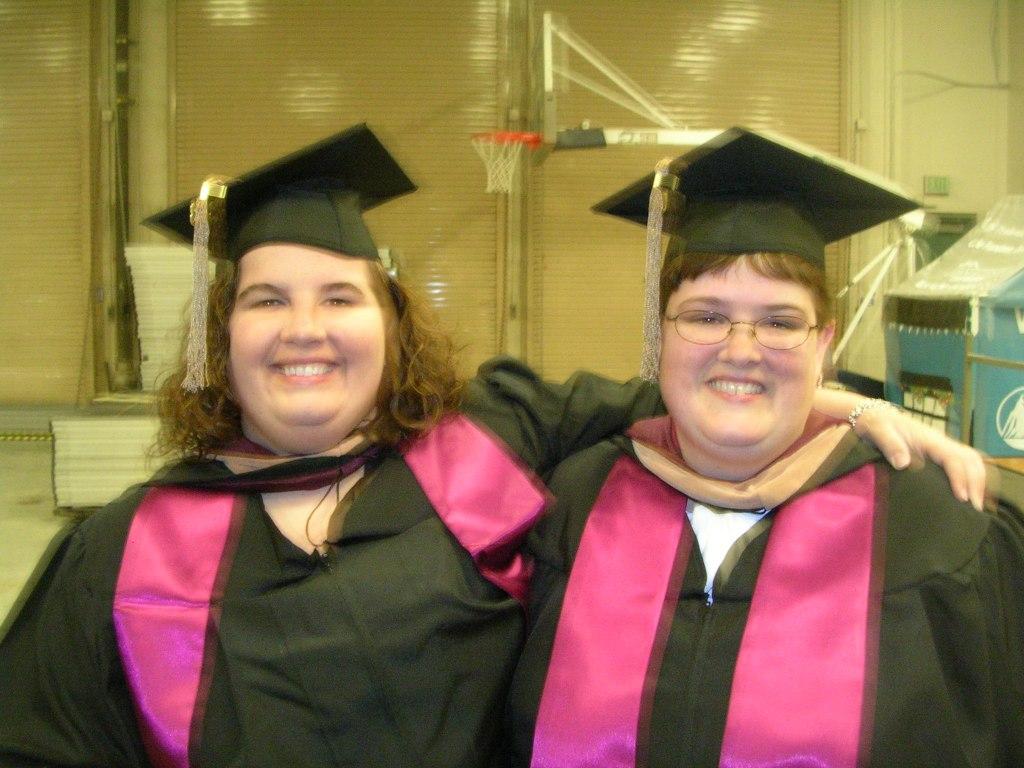 Jodi and I at graduation