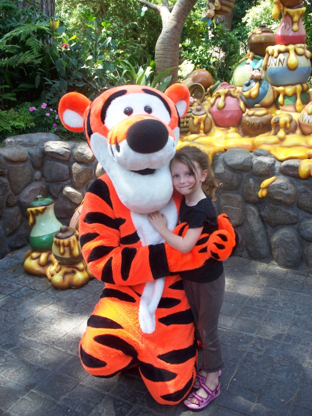 Isabel and Tigger