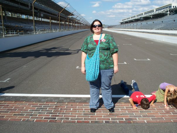 The finish line at the brickyard. My old stomping grounds!