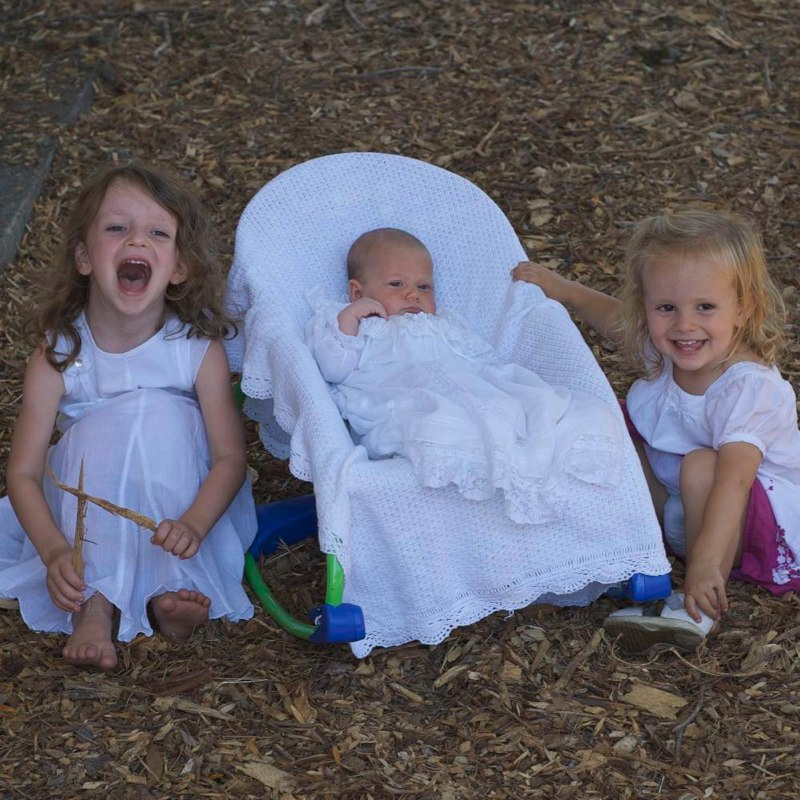 The cute nieces.  I love them!