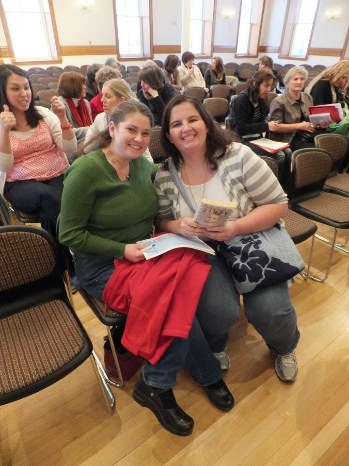 My friend Emily and I at a book signing