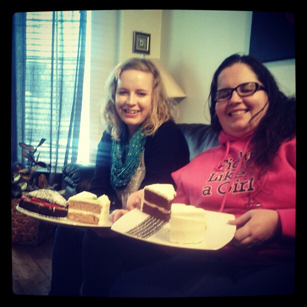 anna and I with cake