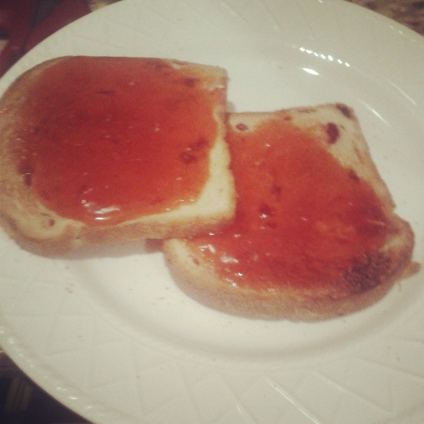 YUM! Toast with butter and homemade jam