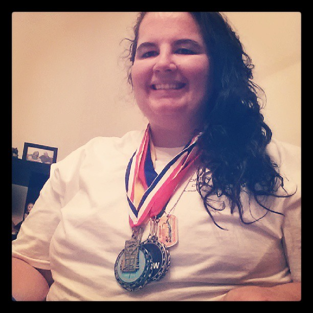 All of my medals.  Eat your heart out Michael Phelps