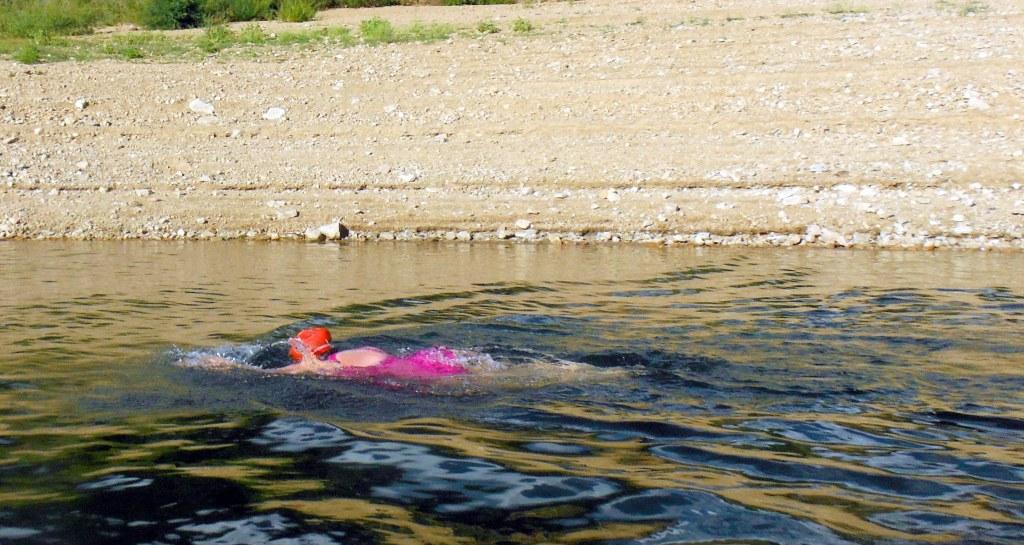 Swimming away!