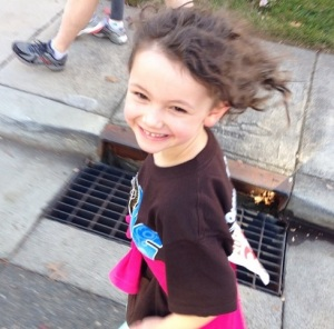 Nellie running and smiling