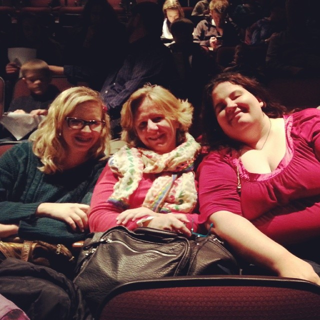 My Mom, Anna and I at the BYU Christmas concert.  Great!