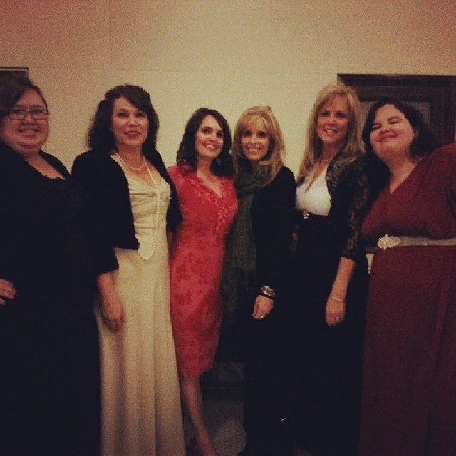 My friends and I from my ward looking cute from the dance!