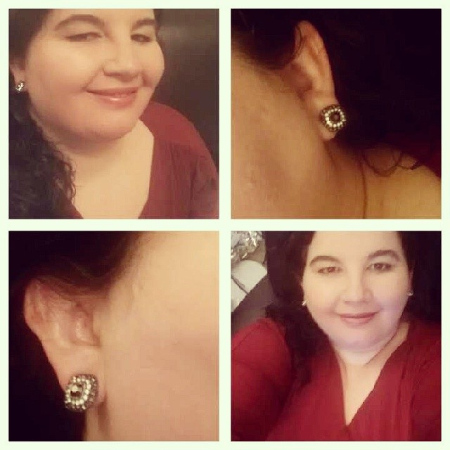 My earrings are super pretty