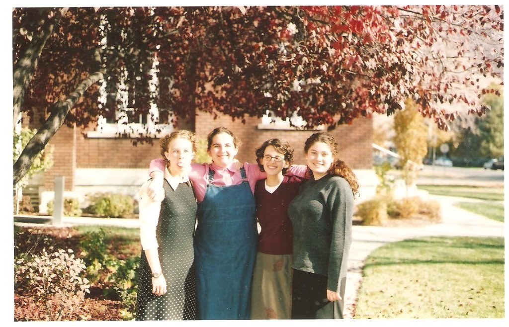 College friends (my cousin Julia, me, my sister Megan and Emily)
