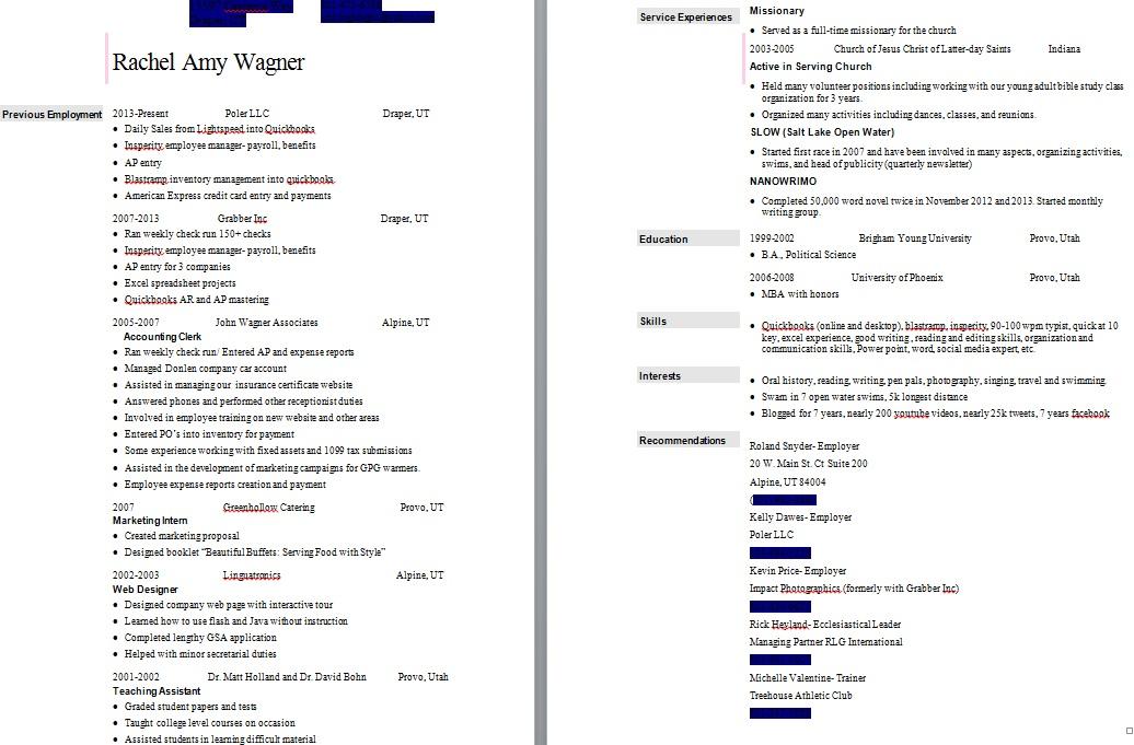 resume of smilingldsgirl s weblog