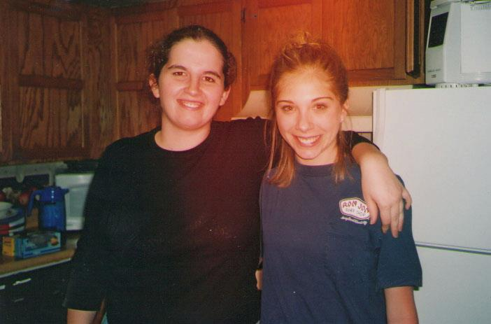 My roommate Heather and friend.