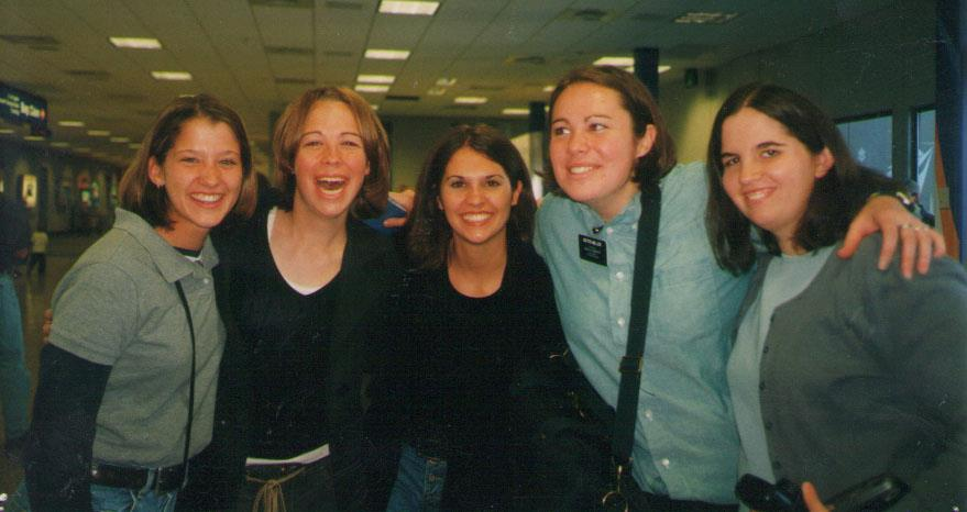 My friend Joni from college as she left for her mission.