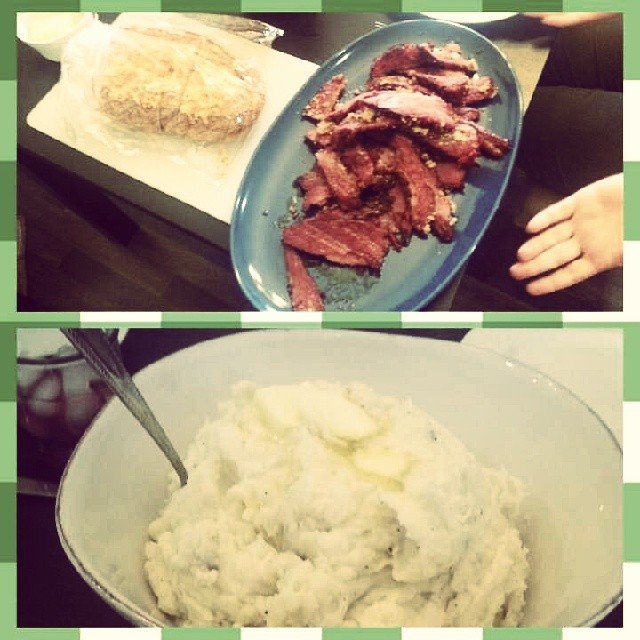 corned beef and mashed potatoes