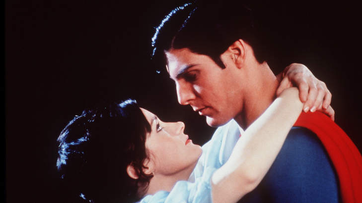 Margot Kidder and Christopher Reeve in Superman.