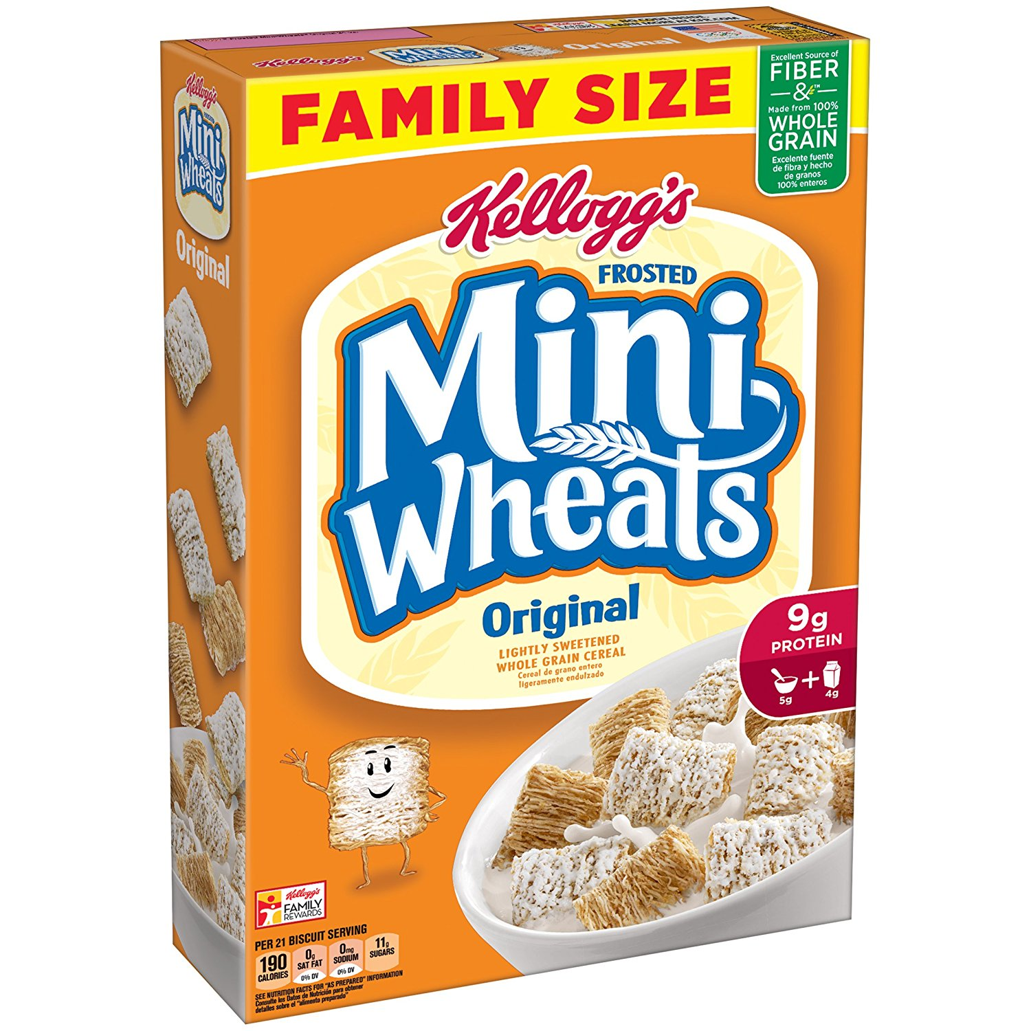 The Nutrition of Shredded Wheat Cereal. Fitday Editor Shredded wheat cereal is one of the best available to meet your nutritional needs. This is a good low calorie, zero cholesterol choice. It is produced from shredded whole wheat that is made into small squares. .